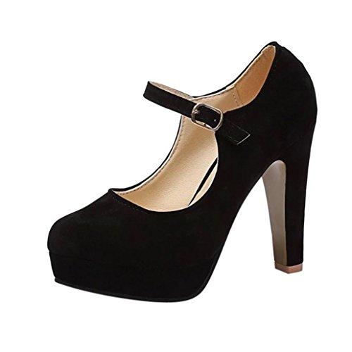 ¡Oferta liquidación Covermason! Zapatos tacón cuadrado