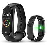 KLiHD Smart Band M4,Fitness Tracker,Contapassi/Fitness/contacalorie/Notifiche di Messaggi,Schermo a Colori HD Braccialetto In