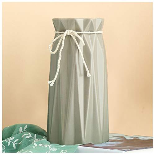 Vases LXF Littéraire en en Céramique Décoration Salon Maison De Chanvre Corde Bureau Table À Manger Bureau Ornement (Couleur : B)