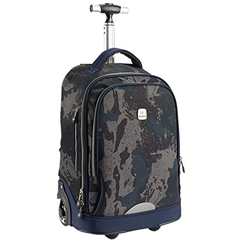 Trolley Rolling Rucksack Schultasche 18 Zoll für Kinder,Schüler und Studenten mit viel Stauraum für Reisen, Schule und Ausflüge ()