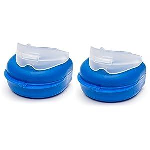 LUPO Professioneller Zahnfleisch Schutz 2-Pack Anti Schnarch Pressen Knirschen Zähne Bruxismus Prävention Mund Nacht Guard Formbar Sport Hygienisch Schlaf Hilfe