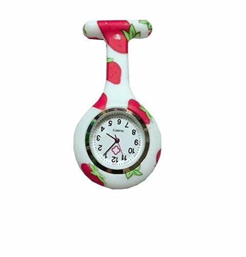 Modello colorato silicone infermieri tunica spilla orologio da taschino in acciaio quadrante