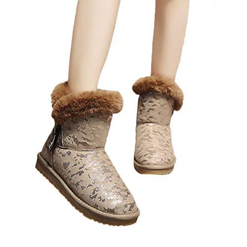 c96d1e6926a8f Bottes et Boots, Manadlian Bottes de Neige Bottes Chaudes Bottines Léopard Femmes  Bottes Bout Pointu