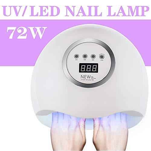 Secador de Uñas 72W lampara led uñas Lámpara LED UV Profesional Manicura/Pedicura Curado Luz Máquina,Para...