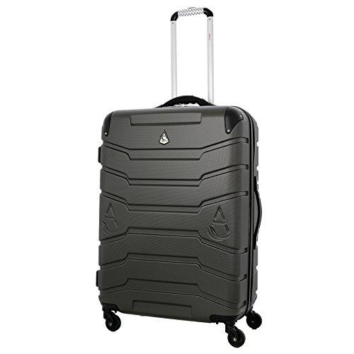 Aerolite Selbst-Wiegen Leichtgewicht ABS Hartschale 4 Rollen Trolley Koffer Reisekoffer Hartschalenkoffer Rollkoffer Gepäck mit Integrierte Digitale Kofferwaage , 71.5cm , Kohlegrau