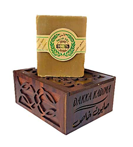 Aleppo Seife Dakka Kadima Limited Edition - Oud, Amber, Musk and Saffron in edler Holzbox.