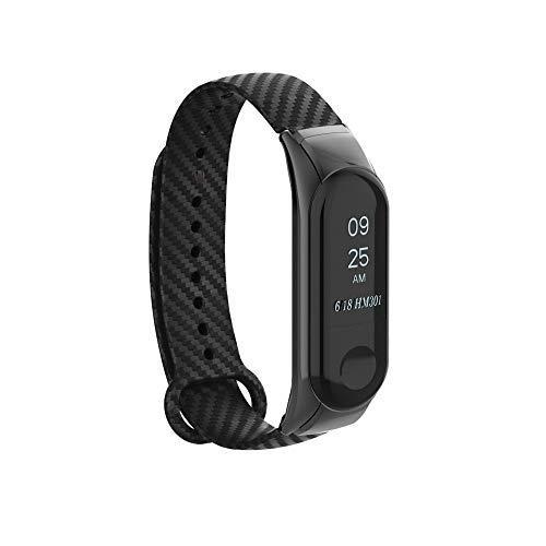 99native Uhrenarmband Passt für Xiaomi Mi Band 3 Fitnessarmband, Ersatzarmband Armband Silikonband Strap + Rahmen für Xiaomi Mi Band 3, Passend für Frau Mann Sport Intelligent Silikonband (Schwarz)