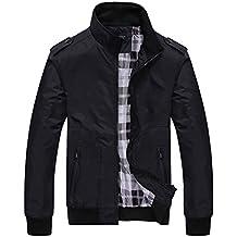 Quge Giacca da Uomo Giacche Classico Retro Vintage Manica Lunga Casual  Outwear Jacket 5a04f590b6c