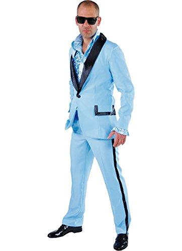 M214292-13-XL hell blau Herren Smoking Jackett Hose Gr.XL (Boogie Woogie Mann Kostüm)