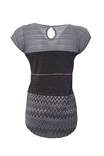 DESIGUAL - Damen kurzarm t-shirt mire 74t25h9 Schwarz