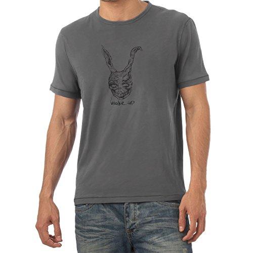 NERDO Wake up - Herren T-Shirt, Größe M, Grau
