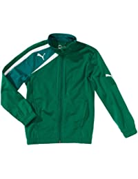 PUMA - Chaqueta de fútbol sala infantil, tamaño 176 UK, color power verde - team verde - blanco