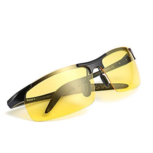 3b3242a9e2 Myiaur Gafas polarizadas HD de la visión nocturna de Deportivas Style para  conducir las gafas de