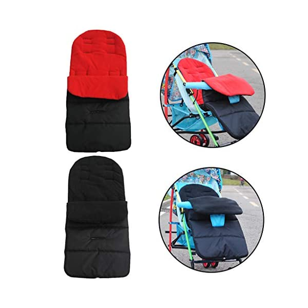 DENGHENG Multi-Function Baby Stroller Sleeping Bag Children Kids Trolley Thickened Swaddl DENGHENG ❤ Baby carriage sleeping bag, Multi-functional universal stroller sleeping bag. ❤ Made of high quality oxford and fleece, it is warm, windproof and waterproof. ❤ Removable, easy to clean, adjustable, adjust the position according to your baby's length. 4