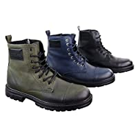 TruClothing.com Mens Ankle Boots Military Army Laced Zip Casual Combat Vintage Classic Leather
