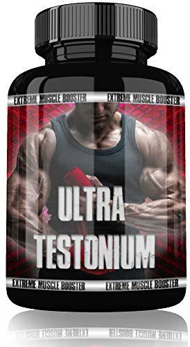 Ultra Testonium Testosteron Testo Booster By VargPower | 120 Kapseln Tabletten | Geeignet Für Muskelaufbau Phase | Beliebt bei Kraftsportler Bodybuilder Männer | Hochdosiert Anabolic | Extreme