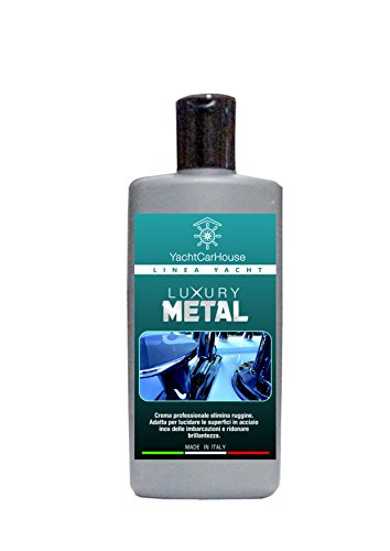 YachtCarHouse - Luxory Metal - Nautical cream cleanser, polish and protector for stainless steel, 250 g