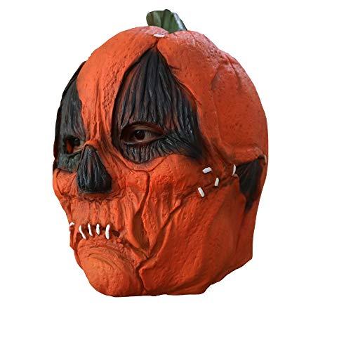 Halloween-Maske, Halloween-Kostüm Kürbis-Zombie-Maske, Horror-Geist Beängstigend, Prank Maske Gesicht Beängstigende Party, Bar-Requisiten, - Beängstigende Kürbis Kostüm
