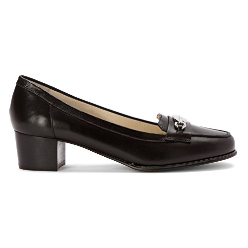 Michael Michael Kors Lainey Mid Loafer Cuir Mocassin Black-Leather