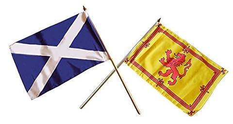 Schottland Small Hand Flaggen –, gemischt Paar St. Andrew