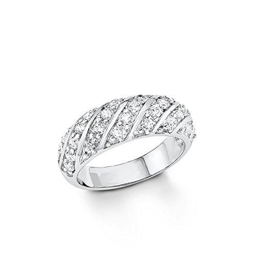 s.Oliver Jewel Damen-Ring 925 Silber rhodiniert Zirkonia weiß Gr. 54 (17.2) - 507783