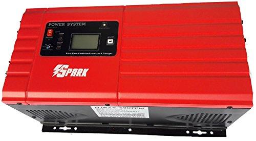 Spark 3000Watt reiner SINUS WECHSELRICHTER 12V 9000W Peak (12V) eingebaute Batterie Ladegerät Support BTS und automatischer Generator Start