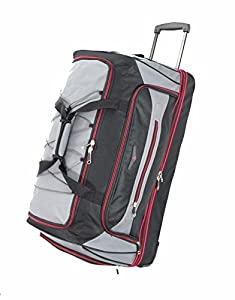 XXL Large Split Travel Luggage Wheeled Trolley Holdall Suitcase Case Duffel Bag