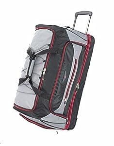 XXL Large Split Travel Luggage Wheeled Trolley Holdall Suitcase Case Duffel Bag