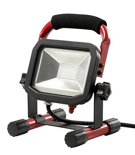 Preisvergleich Produktbild LUCECO Ultraflacher LED Baustrahler 22W mit Ständer, 1800lm, 5000K, IP65-geschützt, Energieeffizienzklasse A+ a_plus, 1 Stück, LSW18BR2-E2