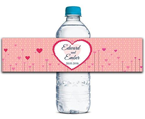 Personalisierte Wasserflasche Etiketten Selbstklebende wasserdichte Kundenspezifische Hochzeits-Aufkleber 8