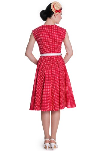 Ligne bunny robe jUDY 50 's robe 4309 Rouge - Red-White