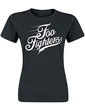 Foo Fighters Logo Camiseta Mujer Negro