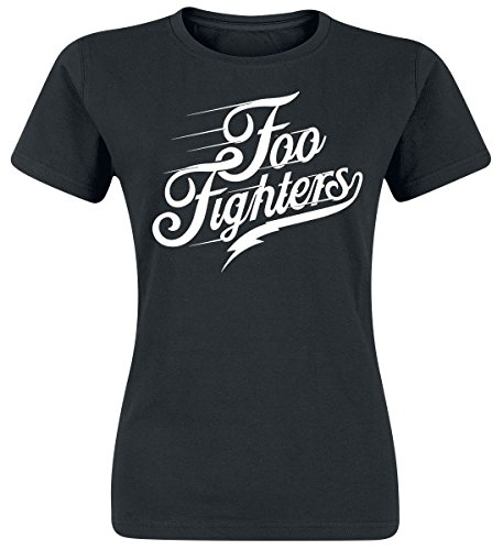 Foo Fighters Logo Girl-Shirt Schwarz Schwarz