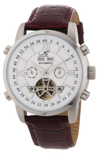 Ingraham Men's Automatic Watch Calcutta IG CALC.1.200103 with Leather Strap