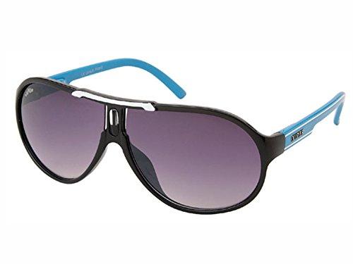 Disques lunettes de soleil pilotes Chic-Net mono lunettes métal teinté coloré 400 UV bracelet unisexe casquettes argent uShpHm0T