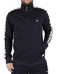 Hype Homme Logo Sporting Zip Track Jacket, Bleu