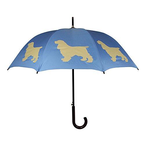 The San Francisco Umbrella Company Regenschirm mit Tiermotiv Cocker Spaniel Blau Beige (Regenschirm Spaniel)