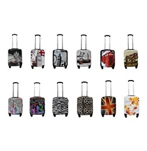 Multi Design Printed Cabin Hand Luggage Suitcase Ryanair 4 Wheeled ABS Travel Case Bag