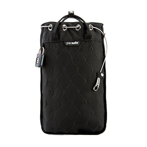 Pacsafe Travelsafe 5L GII - Mobiler Safe mit TSA-Zahlen Schloß, Trage-Tasche mit Anti-Diebstahl Technologie, 5 Liter Volumen, Schwarz/Blac...