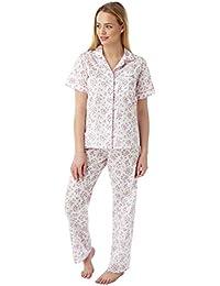 Womens Marlon Nightwear Poly Cotton Short Sleeve Floral Pyjamas Pjs Size 10-30