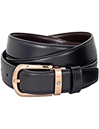Montblanc Classic line 114413 ceinture en cuir boucle en or rose 0d457feefc9