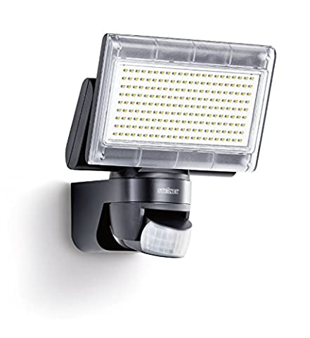Steinel XLED Home 1 black - Sensor-switched LED Floodlight with NEW 4000K light colour, Outdoor Spotlight with 140° Infrared Motion Sensor and 14 m Reach, 14.8 W Power with 1020 lm Brightness, 029661