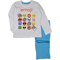 Emoji Niños De Algodón Conjunto De Pijama Largo (Blanco, 4 Años)