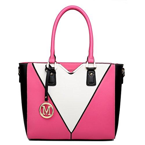 Tasche co uk Miss Damen Handtaschen Softtouchlinens Lulu 7yYgvbf6