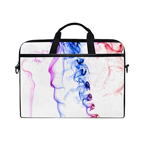 Stilvolle Aktentasche Laptoptasche 15 Zoll mit Schultergurt für Männer und Frauen Weihrauch Regenbogen - Frau Weihrauch