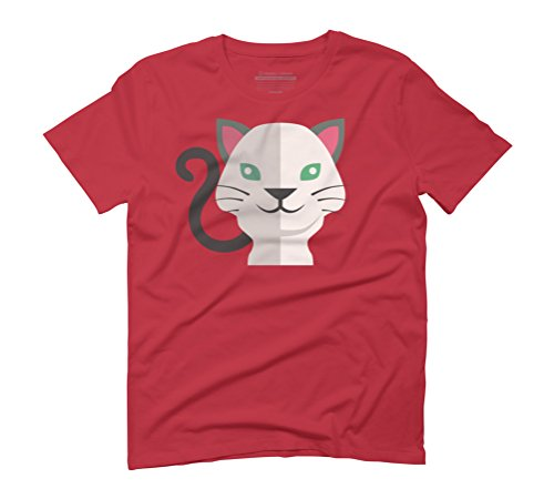 pussy cute cat Men's Graphic T-Shirt - Design By Humans Red