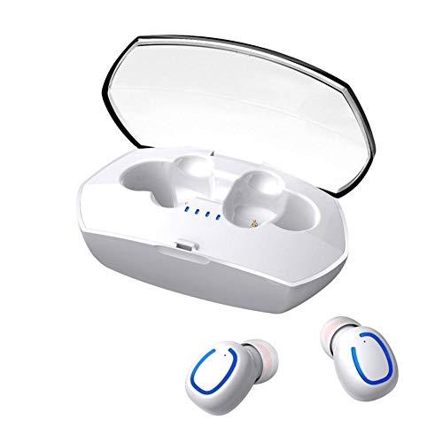 Auriculares Bluetooth,Melofun PowerPods Auriculares Inal/ámbricos Bluetooth 5.0 HiFi Mini Twins Est/éreo In-Ear Tipo C con Caja de Carga y Micr/ófonos para Xiaomi Android y iOS