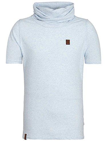 Naketano Male T-Shirt Glatze ohne Mütze II cloudy melange