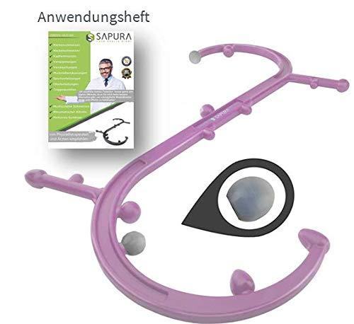 Triggerpunkt Massagegerät + Anwendungsheft + Massagenoppen ✓ Selbstmassagegerät ✓ Massagestab Rücken ✓ Massage Haken ✓ Trigger Stick
