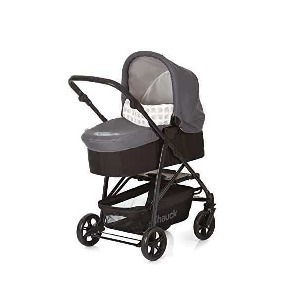 Hauck Rapid 4 X Plus Trio Set, 3-in-1 Travel System from Birth Up To 25 kg, Infant Car Seat Group 0, Carrycot and Buggy, One Hand Fold, Height-Adjustable Push Handle, Lying Position, Mickey Cool Vibes  3 in 1 stroller set. includes pushchair, carry cot and group 0+ car seat. Rapid fold system. the one hand fold system makes this pushchair ideal for shopping trips, and it folds small enough to fit in most car boot Optional isofix base.  the group 0+ car seat is compatible with the hauck comfort fix car seat base. 13